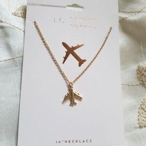 LC Lauren Conrad Airplane Necklace